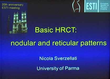 Nodular and Reticular Pattern - Nicola Sverzellati